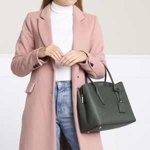 KATE SPADE MARGAUX LARGE SATCHEL DEEP EVERGREEN